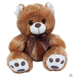 Zittende beer in 2 kleuren 22 cm.