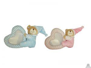 Staande babypluche beer beide van 13 CM.
