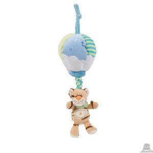 Hangende babypluche tijger beide van 24 CM.