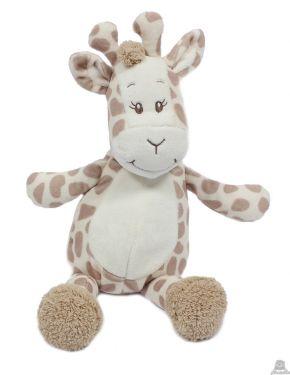 Pluche zittende giraffe, leeuw of Zebra 19 cm