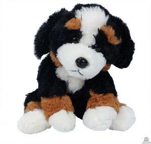 Zittende pluche Hond Berner sennen 24 cm