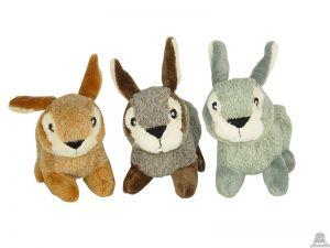 Staande soft-pluche konijn beide van 12 CM.