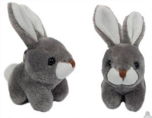 Pluche sleutelhanger zittend konijn 8 cm.