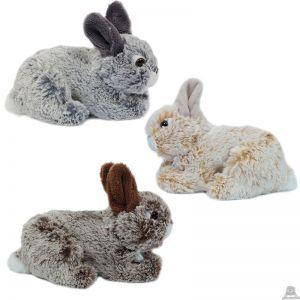 Liggend pluche konijn 18 cm in 3 kleuren