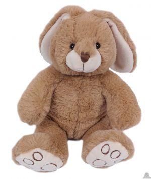 Zittend pluche konijn met lange oren 20 cm in 2 kleuren