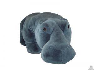 Staande pluche nijlpaard beide van 150 CM.