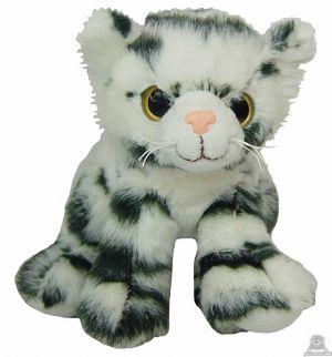 Zittende pluche tijger beide van 16 CM.