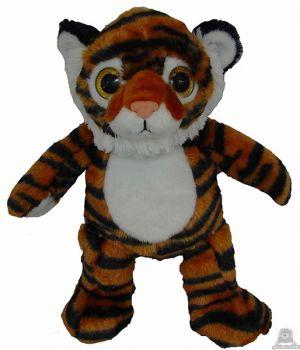 Staande pluche tijger beide van 30 CM.