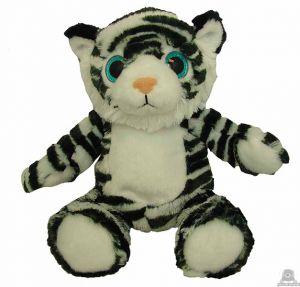 Zittende pluche tijger beide van 30 CM.