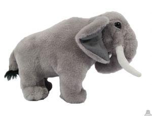 Staande pluche olifant 25 cm.