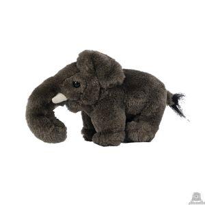 Staande pluche olifant beide van 27 CM.