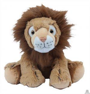 Zittende pluche bruine Leeuw 25 cm