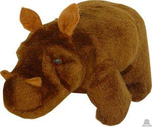 Staande pluche nijlpaard beide van 15 CM.