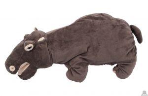 Staande pluche nijlpaard beide van 48 CM.