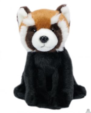 Pluche zittende Panda 20 cm met halsband en naam