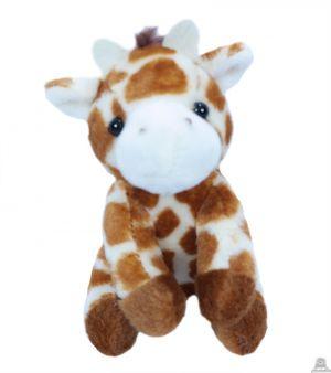 Zittende pluche Giraffe 11.5 cm