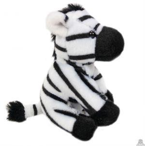 Zittende pluche Zebra 11.5 cm