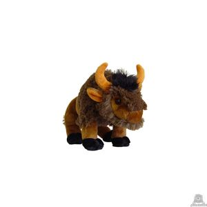 Staande pluche bizon beide van 25 CM.