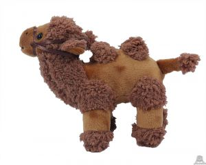 Staande pluche kameel 17 cm