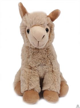 Zittende Alpaca beige 24 cm.