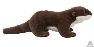 Liggende pluche Zeeotter 25 cm