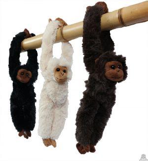 Pluche hang aap 3 kleuren 30 cm