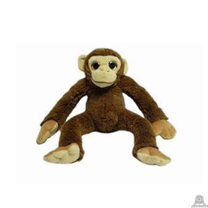 Zittende pluche chimpansee beide van 30 CM.