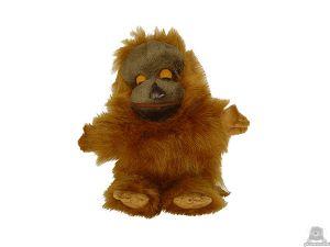 Staande pluche orang oetan beide van 30 CM.