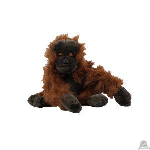 Zittende pluche orang oetan beide van 30 CM.