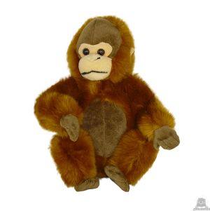 Zittende pluche orang oetan beide van 26 CM.