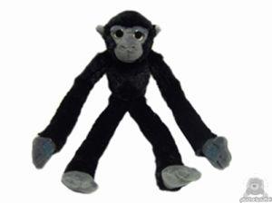 Zittende pluche chimpansee beide van 46 CM.