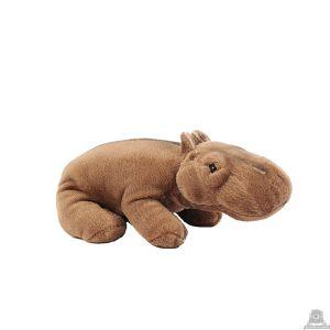 Staande pluche nijlpaard beide van 24 CM.