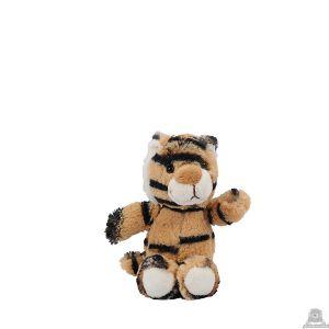 Zittende soft-pluche tijger beide van 11 CM.