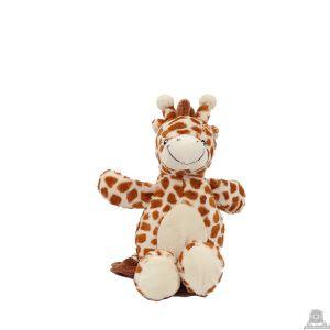 Zittende pluche giraffe beide van 16 CM.