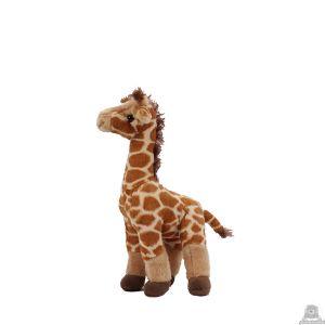 Staande pluche giraffe beide van 25 CM.