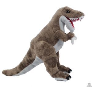Pluche staande Dinosaurus T-Rex Bruin 30 cm