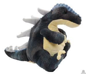 Pluche zittende Dinosaurus T-Rex Grijs Geel 30 cm