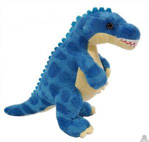 Pluche staande Dinosaurus Blauw 30 cm
