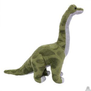 Staande pluche Brontosaurus groen 30 cm.