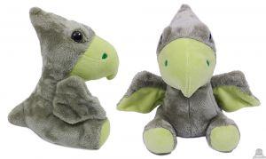 Pluche zittende Dinosaurus groen 23 cm