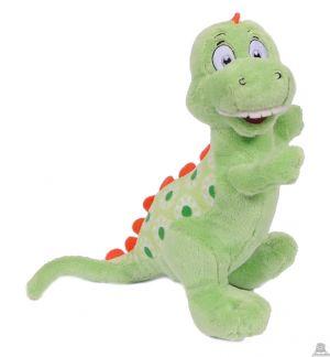 Pluche staande Dinosaurus groen 20 cm