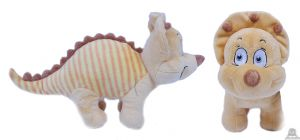 Pluche staande Dinosaurus geel 36 cm