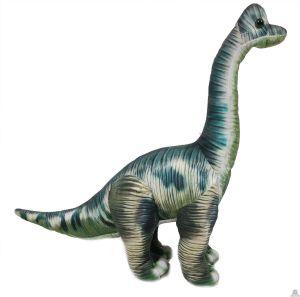 Geprinte stoffen staande Dinosaurus Brontosaurus grijs 41 cm