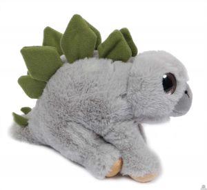 Pluche staande Dinosaurus Stegosaurus grijs 23 cm