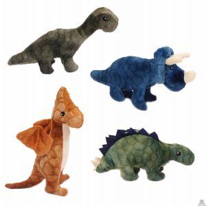 Staande pluche Dinosaurus 4 kleuren ass. 20 cm.
