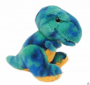 Pluche staande Dinosaurus blauw 22 cm