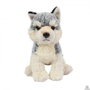 Pluche zittende Wolf 23 cm