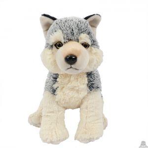 Pluche zittende wolf 28 cm