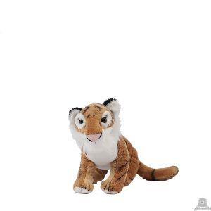 Zittende pluche tijger beide van 23 CM.