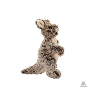 Staande pluche kangoeroe beide van 23 CM.